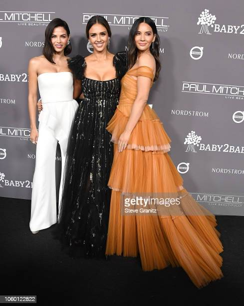 Jenna Dewan Jessica Alba and Olivia Munn arrives at the The 2018 Baby2Baby Gala Presented By Paul Mitchell Event at 3LABS on November 10 2018 in...