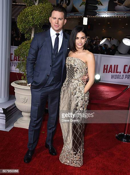Jenna Dewan Tatum and Channing Tatum arrives at the Premiere Of Universal Pictures' Hail Caesar at Regency Village Theatre on February 1 2016 in...
