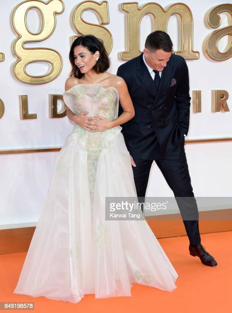 Jenna Dewan Tatum and Channing Tatum attend the 'Kingsman The Golden Circle' World Premiere at Odeon Leicester Square on September 18 2017 in London...