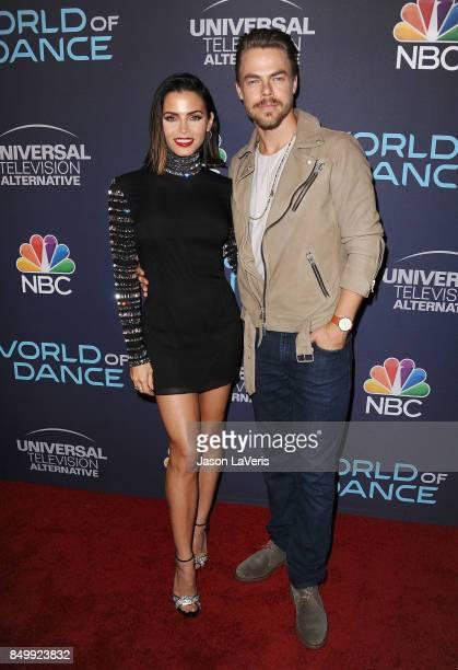 "Jenna Dewan Tatum and Derek Hough attend NBC's ""World of Dance"" celebration at Delilah on September 19, 2017 in West Hollywood, California."