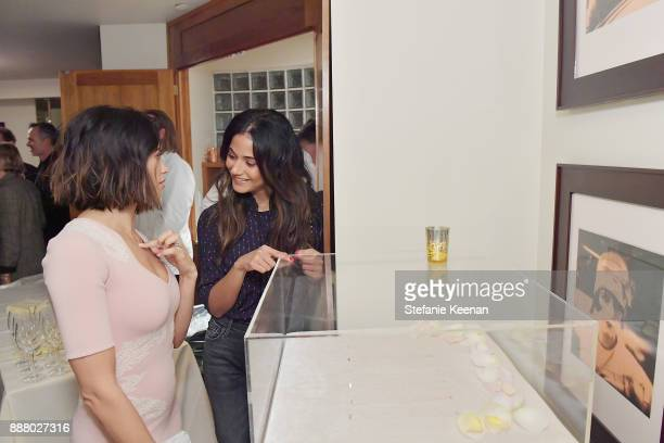 Jenna Dewan Tatum and Emmanuelle Chriqui attend Giltcom Jennifer Meyer Jenna Dewan Tatum Launch Exclusive Jewelry Collection Benefitting Baby2Baby at...