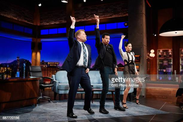 Jenna Dewan Tatum and Lionel Richie chat with James Corden during 'The Late Late Show with James Corden' Monday May 22 2017 On The CBS Television...