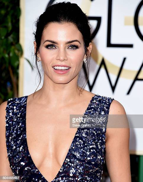 Jenna Dewan Tatum arrives at the 73rd Annual Golden Globe Awards at The Beverly Hilton Hotel on January 10 2016 in Beverly Hills California