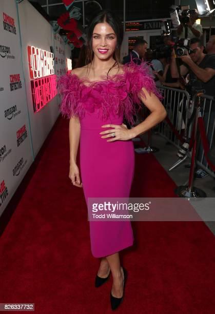 "Jenna Dewan Tatum attends the Amazon Prime Video Premiere Of Original Comedy Series ""Comrade Detective"" In Los Angeles on August 3, 2017 in Los..."