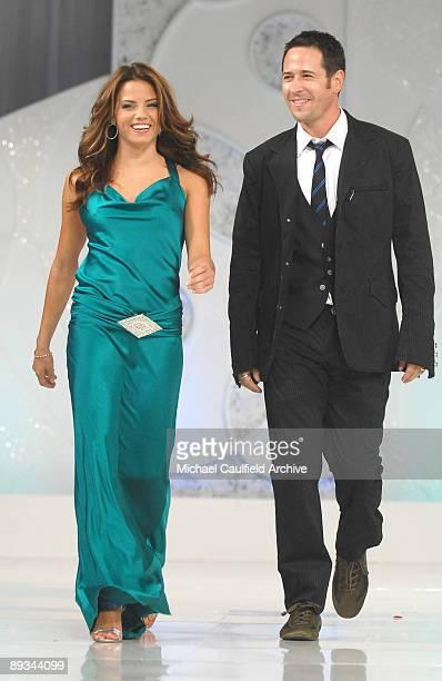 Jenna Dewan wearing Hannah Hartnel for Robert Ellis and Rob Morrow wearing SY Devore Menswear