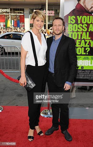 Jenna Elfman and Bodhi Elfman arrive at the premiere of Warner Bros Pictures' 'Horrible Bosses' at Grauman's Chinese Theatre on June 30 2011 in...