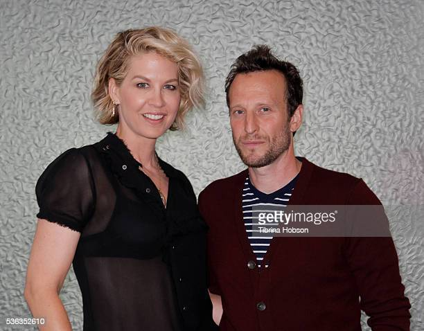 Jenna Elfman and Bodhi Elfman attend the AOL BUILD series on May 31 2016 in Los Angeles California
