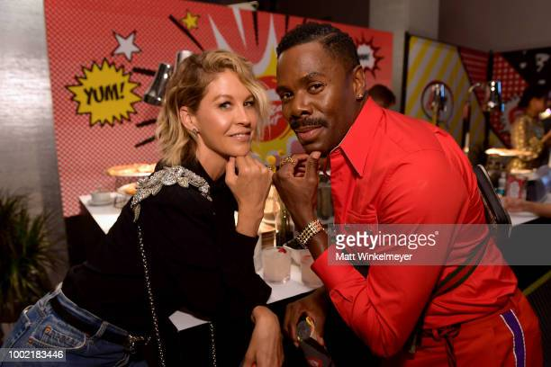 Jenna Elfman and Colman Domingo from the show 'Fear The Walking Dead' attend the Pizza Hut Lounge at 2018 ComicCon International San Diego at Andaz...
