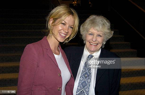 Jenna Elfman and Elaine Stritch during HBO Documentary 'Elaine Stritch At Liberty' Premiere After Party at Samuel Goldwyn Theater Academy of Arts and...
