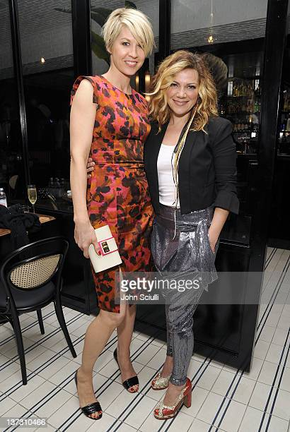 Jenna Elfman and Nikka Costa attend dinner and cocktails hosted by Nicole Miller Emmy Rossum and Luis Barajas at Thompson Hotel on January 18 2012 in...