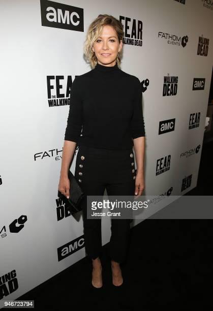 Jenna Elfman attends AMC Survival Sunday The Walking Dead/Fear the Walking Dead on April 15 2018 in Los Angeles California
