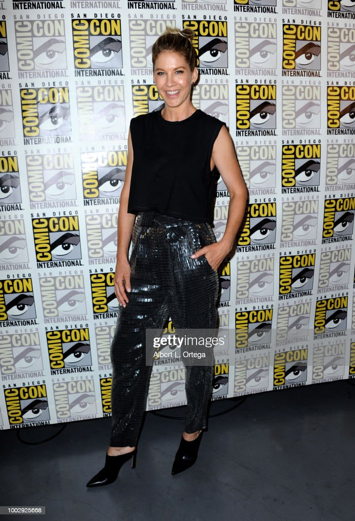 Jenna Elfman attends AMC's 'Fear The Walking Dead' panel during Comic-Con International 2018 at San Diego Convention Center on July 20, 2018 in San Diego, California.