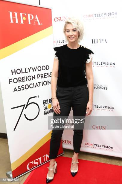 Jenna Elfman attends Northridge's Dedication of the Hollywood Foreign Press Association Wing at California State University Northridge on September...