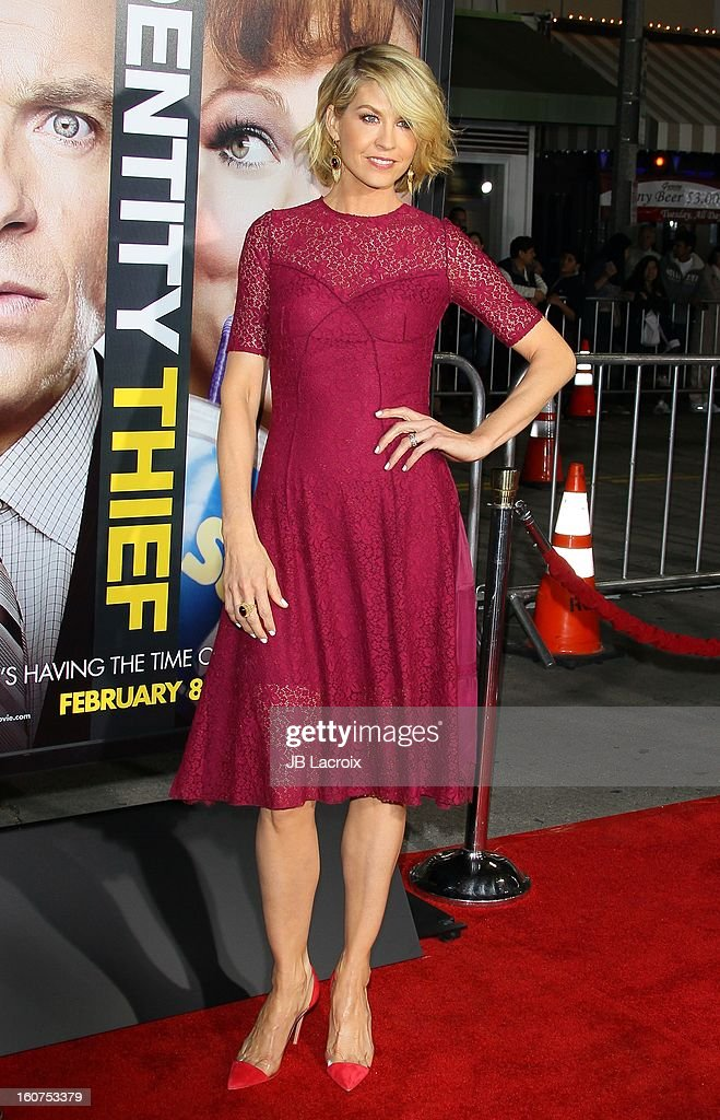 Jenna Elfman attends the 'Identity Thief' Premiere held at Mann Village Theatre on February 4, 2013 in Westwood, California.