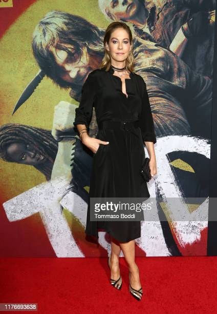 Jenna Elfman attends The Walking Dead Premiere and Party on September 23 2019 in West Hollywood California