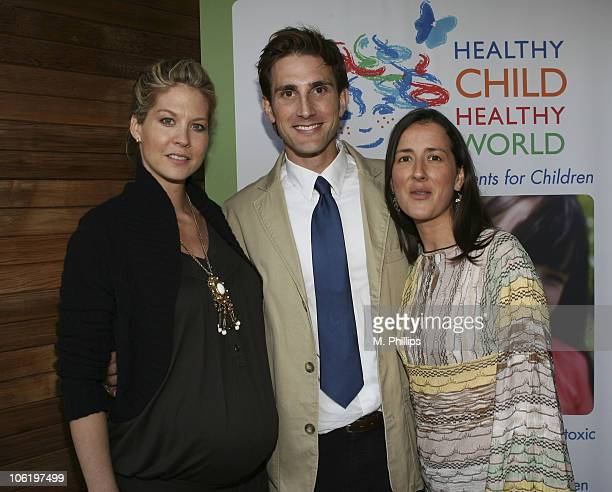 Jenna Elfman, Christopher Gavigan, Executive Director of Heathly Child Heathly World and Anna Getty