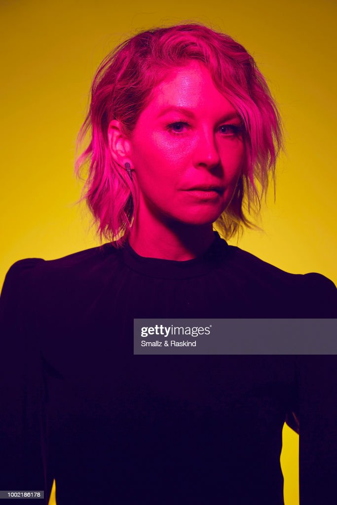 Jenna Elfman from AMC's 'Fear the Walking Dead' poses for a portrait in the Getty Images Portrait Studio powered by Pizza Hut at San Diego 2018 Comic Con at Andaz San Diego on July 19, 2018 in San Diego, California.