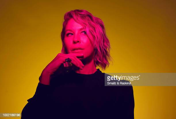 Jenna Elfman from AMC's 'Fear the Walking Dead' poses for a portrait in the Getty Images Portrait Studio powered by Pizza Hut at San Diego 2018 Comic...
