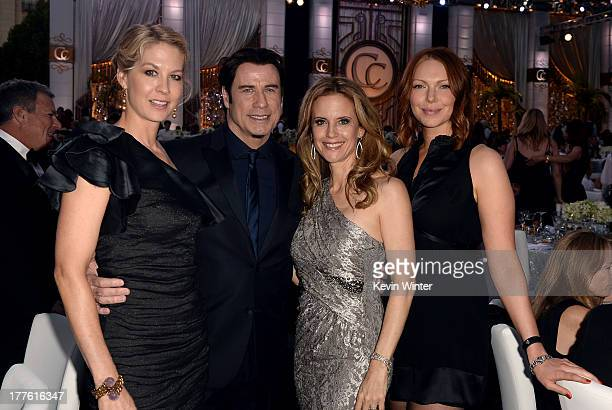 Jenna Elfman John Travolta Kelly Preston and Laura Prepon attend the Church of Scientology Celebrity Centre 44th Anniversary Gala on August 24 2013...