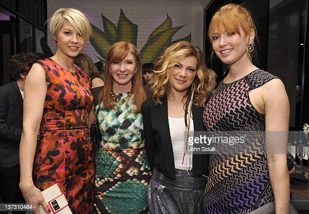 Jenna Elfman Nicole Miller Nikka Costa and Alicia Witt attend dinner and cocktails hosted by Nicole Miller Emmy Rossum and Luis Barajas at Thompson...