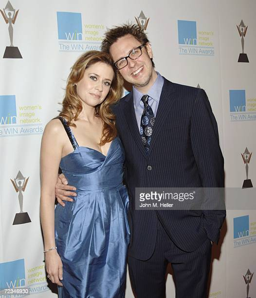 Jenna Fischer and James Gunn attend the 13th Annual Women's Image Network Awards at the Freud Playhouse on the UCLA Campus on November 1 2006 in...