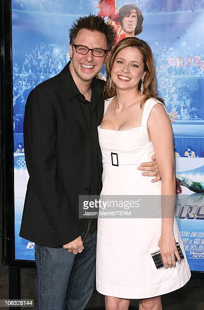 """Jenna Fischer and James Gunn during """"Blades Of Glory"""" Los Angeles Premiere - Arrivals at Grauman's Chinese Theatre in Hollywood, California, United..."""