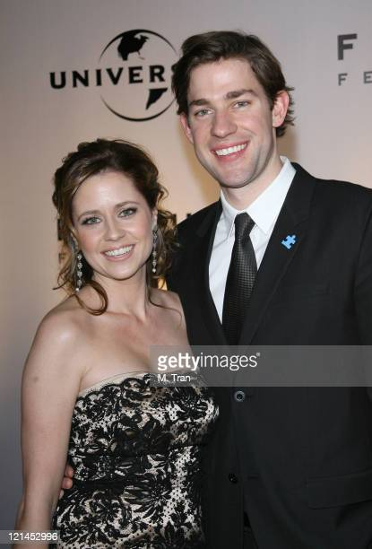 Jenna Fischer and John Krasinski during NBC Universal Golden Globe After Party at Beverly Hilton Hotel in Beverly Hills Calfirnia United States