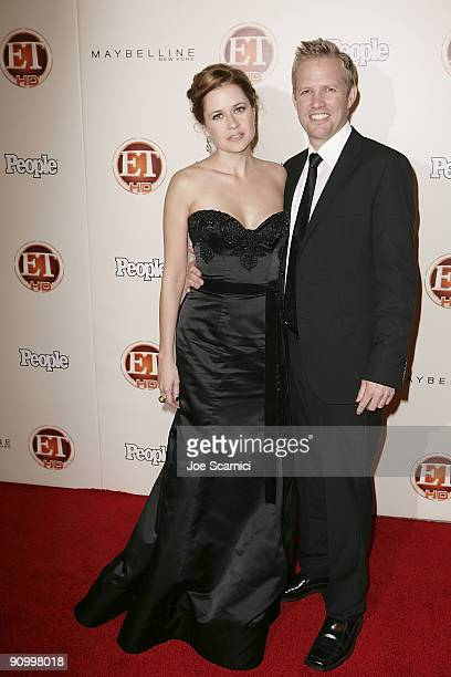 Jenna Fischer and Lee Kirk arrive at Vibiana for the 13th Annual Entertainment Tonight and People magazine Emmys After Party on September 20 2009 in...