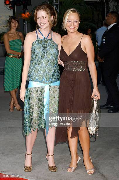 Jenna Fischer and Lucy Davis during The 40YearOld Virgin Los Angeles Premiere Arrivals at ArcLight Theatre in Hollywood California United States