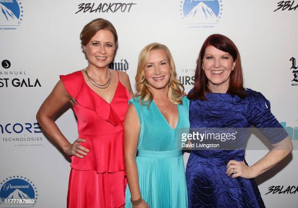 Jenna Fischer Angela Kinsey and Kate Flannery attend Thirst Project's 10th Annual Thirst Gala a The Beverly Hilton Hotel on September 28 2019 in...