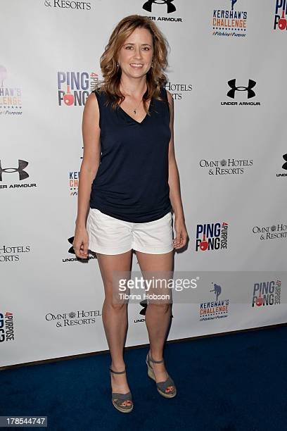 Jenna Fischer attends Clayton Kershaw's inaugural ping pong 4 purpose charity event benefitting 'Kershaw's Challenge' at Dodger Stadium on August 29...