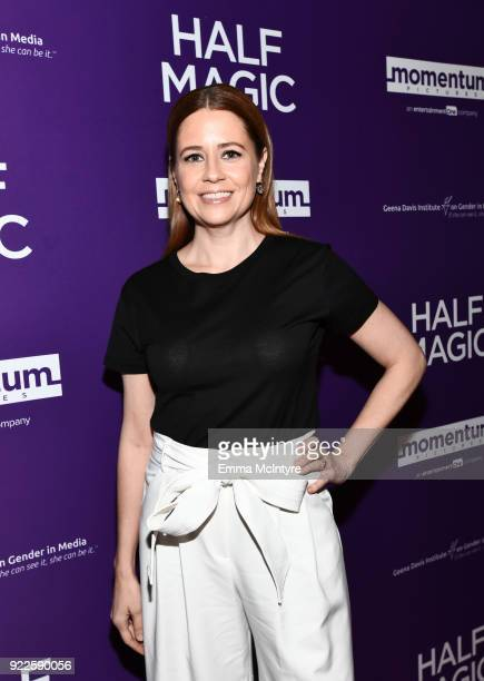 Jenna Fischer attends the premiere of Momentum Pictures' 'Half Magic' at The London West Hollywood on February 21 2018 in West Hollywood California