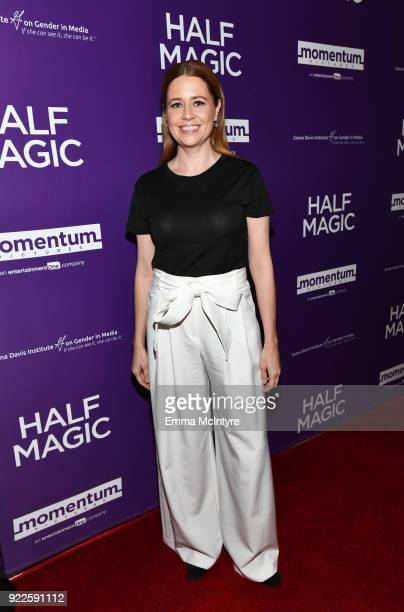 Jenna Fischer attends the premiere of Momentum Pictures' Half Magic at The London West Hollywood on February 21 2018 in West Hollywood California