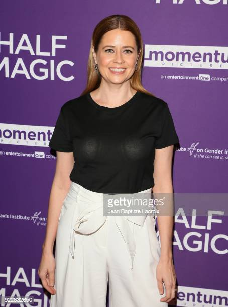 Jenna Fischer attends the premiere of Momentum Pictures' 'Half Magic' at The London West Hollywood on February 21, 2018 in West Hollywood, California.