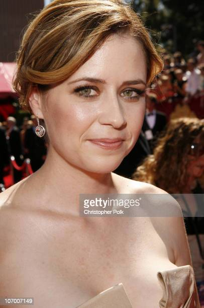 Jenna Fischer during 58th Annual Primetime Emmy Awards - Red Carpet at The Shrine Auditorium in Los Angeles, California, United States.
