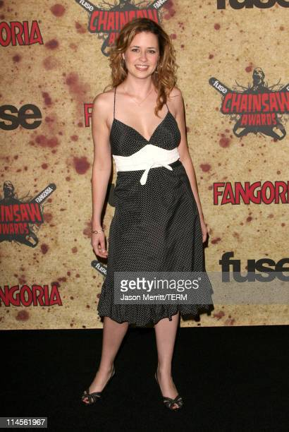Jenna Fischer during Fuse Fangoria Chainsaw Awards Arrivals at Orpheum Theatre in Los Angeles California United States