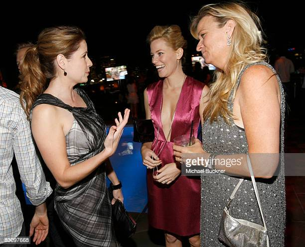 Jenna Fischer Elizabeth Banks and Glynis Costin attend a party hosted by InStyle for Tommy Hilfiger's Bravo TV special Ironic Iconic America at the...