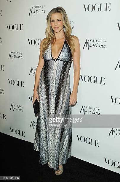 Jenna Gering arrives at the GUESS By Marciano VOGUE Holiday Collection launch party held at Mr C Beverly Hills on October 13 2011 in Beverly Hills...