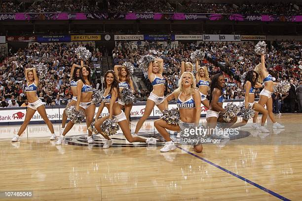 Jenna Gillund dances with the Dallas Mavericks dance team during a game against the Philadelphia 76ers on November 12 2010 at the American Airlines...