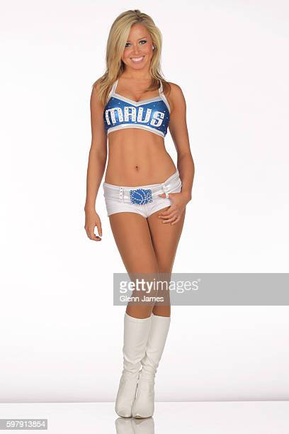 Jenna Gillund of the Dallas Mavericks dance team poses for a photo during the Mavericks Media Day on September 27 2010 at the American Airlines...