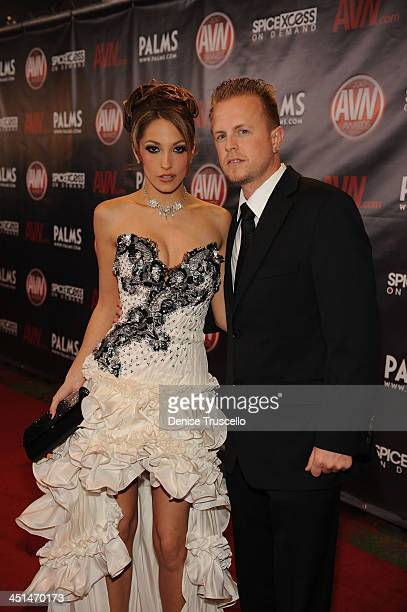 Jenna Haze and Jules Jordan arrives at the 2010 AVN Awards at the Pearl at The Palms Casino Resort on January 9 2010 in Las Vegas Nevada