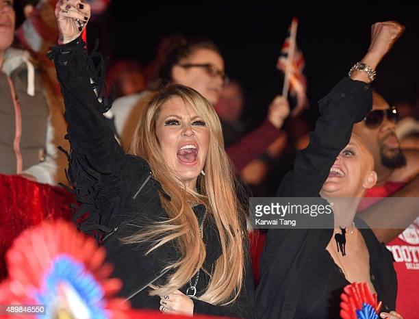 Jenna Jameson and Gail Porter attend the Celebrity Big Brother Final at Elstree Studios on September 24, 2015 in Borehamwood, England.