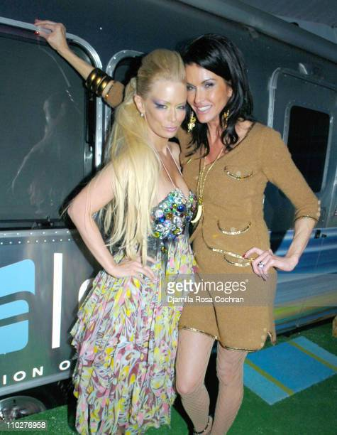 Jenna Jameson and Janice Dickinson during Olympus Fashion Week Fall 2006 Aloft W Lounge Day 5 at Bryant Park in New York City New York United States