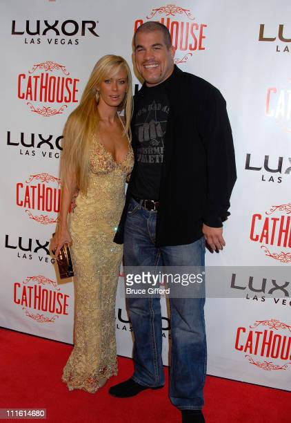 Jenna Jameson and Tito Ortiz arrive at an Unforgettable Birthday Bash for Tito Ortiz Thrown by Jenna Jameson at CatHouse inside Luxor on January 25...