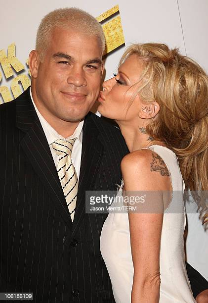 Jenna Jameson and Tito Ortiz arrive at the premiere of Summit Entertainment's 'Never Back Down' at the Cinerama Dome on March 4 2008 in Hollywood...
