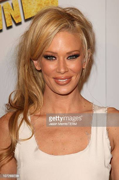 Jenna Jameson arrives at the premiere of Summit Entertainment's 'Never Back Down' at the Cinerama Dome on March 4 2008 in Hollywood California