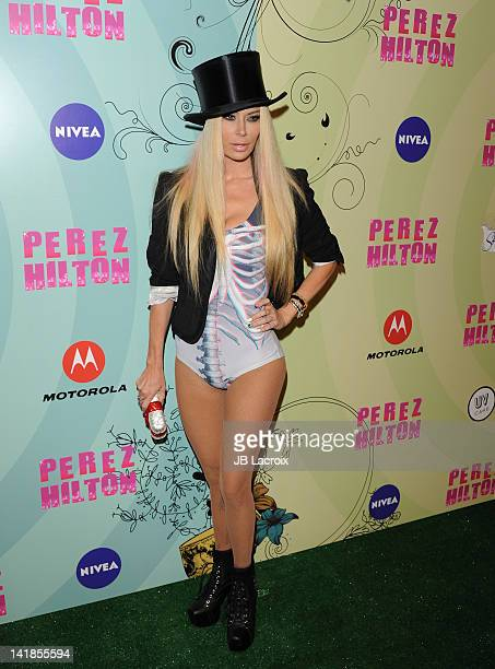 Jenna Jameson attends Perez Hilton's Mad Hatter Tea Party Celebration on March 24 2012 in Hollywood California
