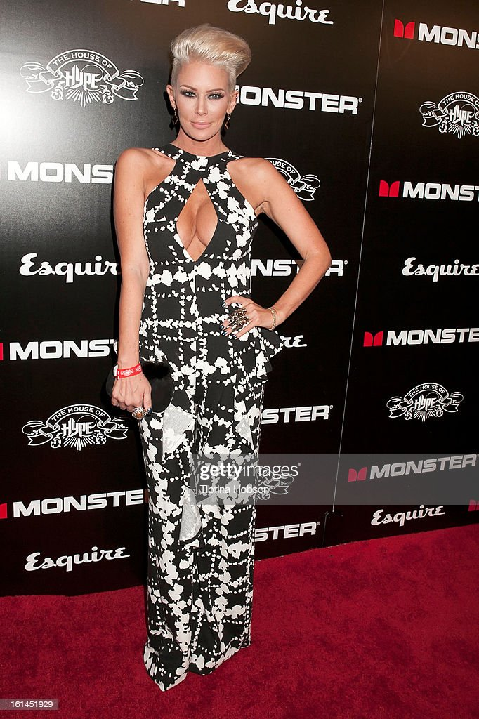 Jenna Jameson attends the 'House of Hype' Monster Grammy party at SLS Hotel on February 10, 2013 in Los Angeles, California.