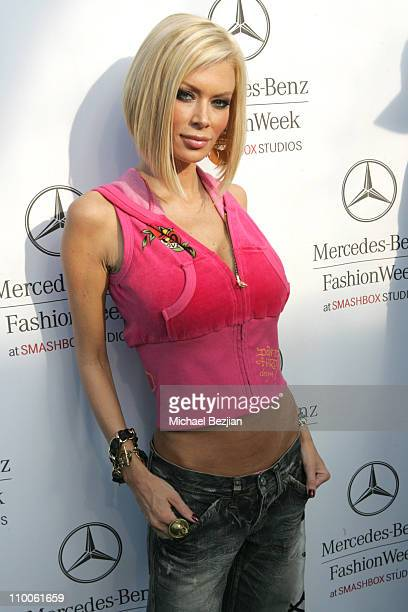Jenna Jameson during MercedesBenz Fall 2007 LA Fashion Week at Smashbox Ed Hardy in Culver City California United States