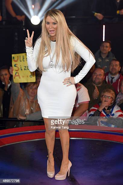 Jenna Jameson is evicted from the Celebrity Big Brother house ahead of the final on Thursday September 24 at Elstree Studios on September 22 2015 in...